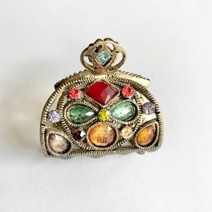 Accessories - Vintage Colorful Stone Hair Clip